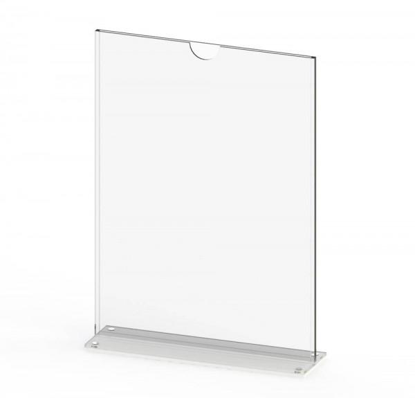Tischaufsteller T-MAG-A4 aus Acrylglas für DIN A4