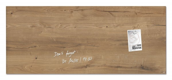Sigel Glas-Magnetboard artverum Natural-Wood, 130 x 55 cm, GL247