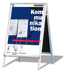 FRANKEN Kundenstopper/Plakatständer, DIN A0, Aluminium eloxiert, BSA0