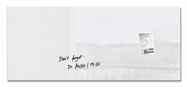 Sigel Glas-Magnetboard artverum super-weiß, 130 x 55 cm, GL241