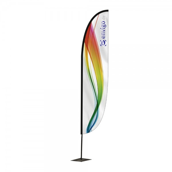 """Beachflag """"Wing"""", Größe M (60 x 320 cm) inkl. Carbonstange und Druck"""