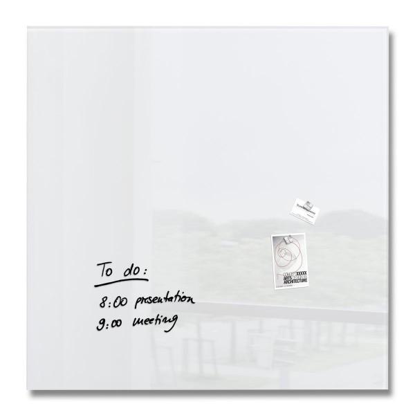 Sigel Glas-Magnetboard artverum super-weiß, 100 x 100 cm, GL201