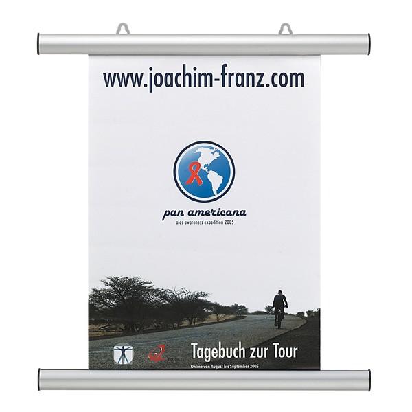 FRANKEN Aluminium-Klemmschienen für Poster und Plakate 120 cm, BS1007