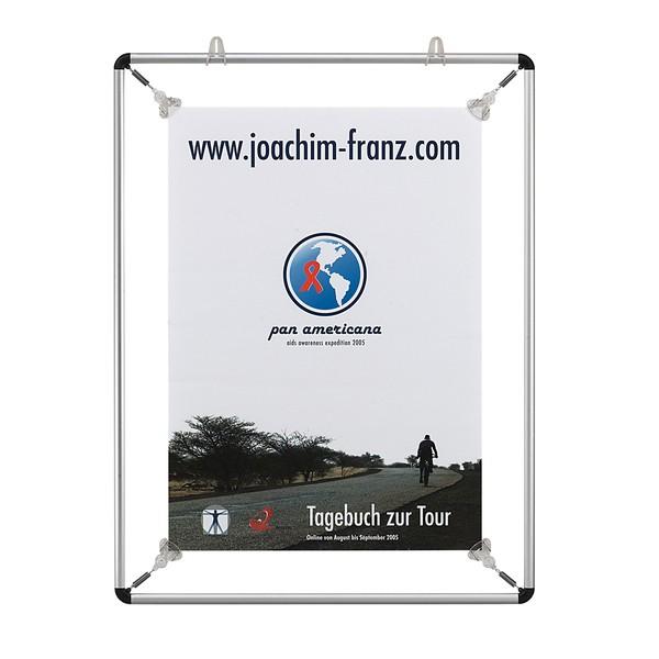 FRANKEN Aluminium-Spannrahmen für Poster und Plakate DIN A4, BS1101