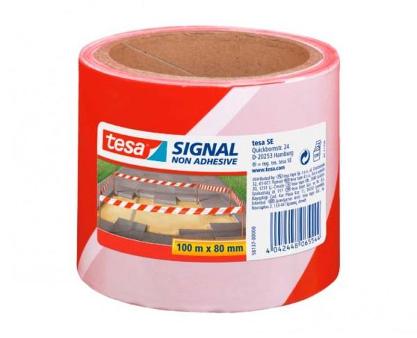 tesa® Signal-Absperrband rot-weiß