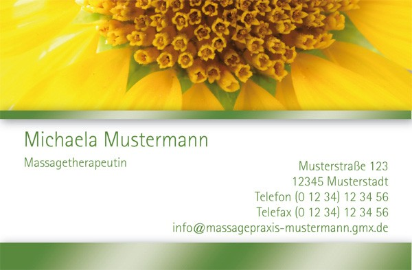 "Visitenkarten Design-Vorlage ""Sunflower"""