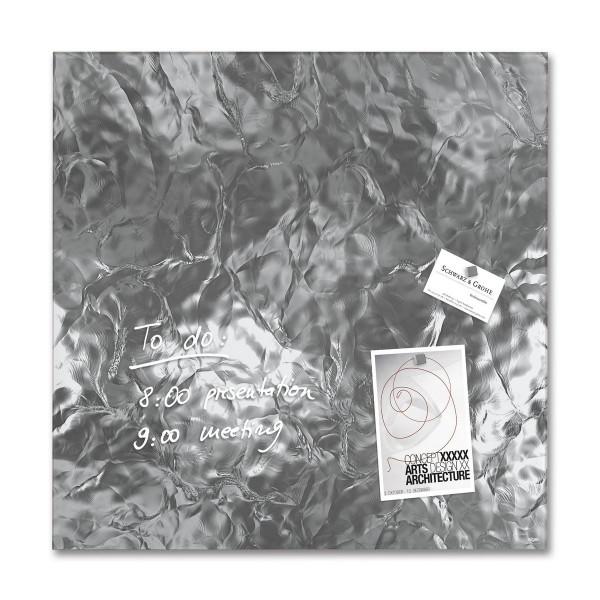 Sigel Glas-Magnetboard artverum Shiny-Silver, 48 x 48 cm, GL264