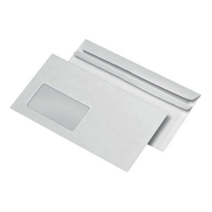 Briefumschläge DIN lang mit Fenster, weiß, unbedruckt