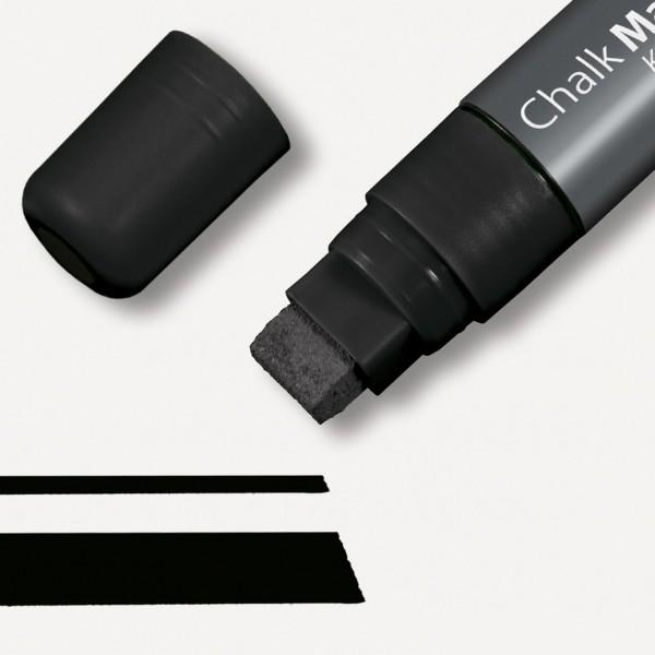 Sigel Kreidemarker 150 Keilspitze 5-15 mm, schwarz für Glas-Magnetboards, GL170