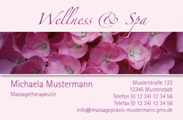 """Visitenkarten Design-Vorlage """"Blüten"""""""