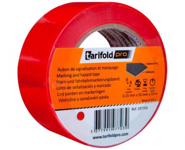 Kennzeichnungs- und Bodenmarkierungsband Standard »tarifoldpro«, rot