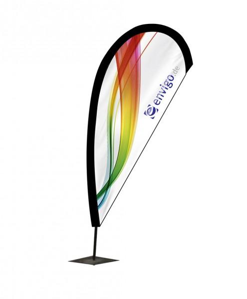 """Beachflag """"Drop"""", Größe S (80 x 210 cm) inkl. Carbonstange und Druck"""