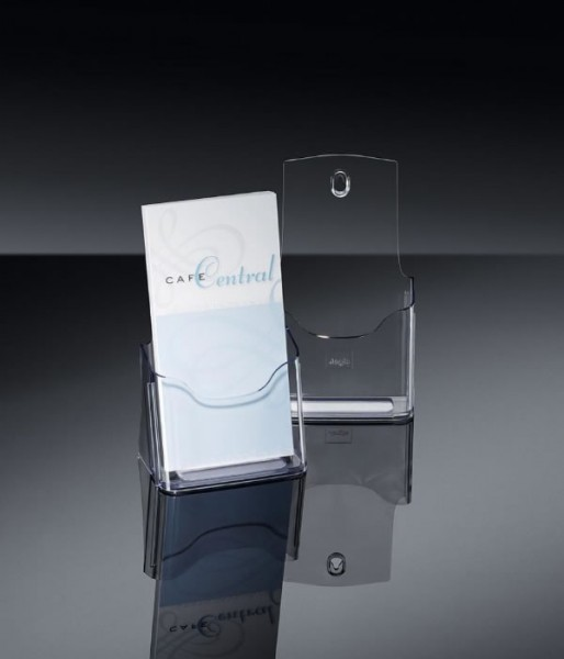 Sigel® Tisch-Prospekthalter acrylic mit 1 Fach DIN lang, LH113