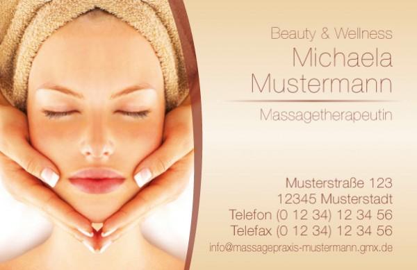 """Visitenkarten Design-Vorlage """"Kosmetik"""""""