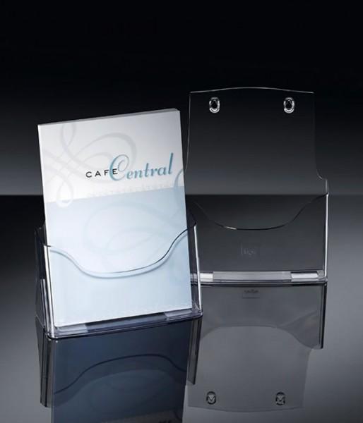 Sigel® Tisch-Prospekthalter acrylic mit 1 Fach DIN A4, LH310, 2 Stück