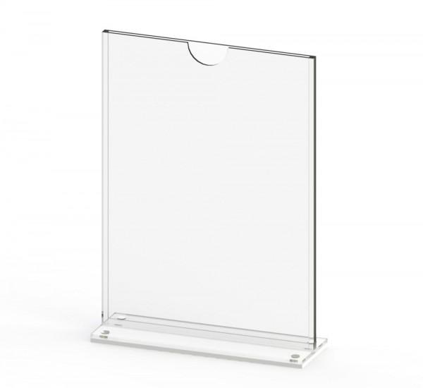 Tischaufsteller T-MAG-A5 aus Acrylglas für DIN A5