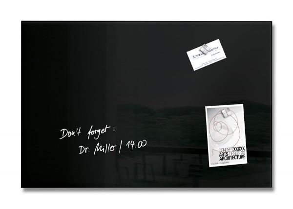Sigel Glas-Magnetboard artverum schwarz, 60 x 40 cm, GL120