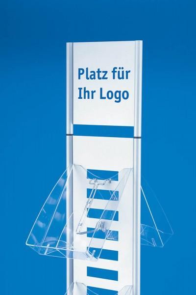 """Infoschild für Prospektständer """"Skyline"""", glasklares Acrylglas"""