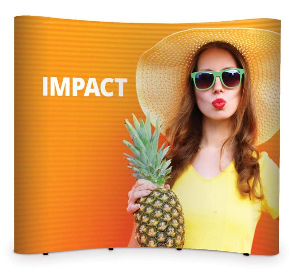 "Displaywand ""Impact Pop-Up gebogen"" mit PVC-Paneelen"
