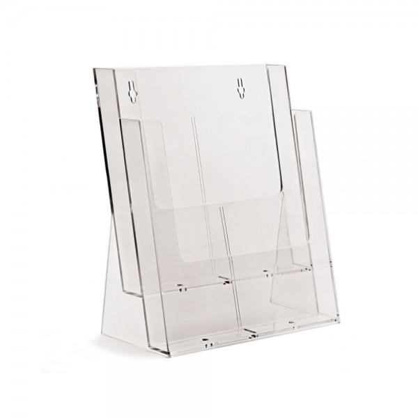 Taymar® Tisch-Prospekthalter 2xDIN A4, 2C230