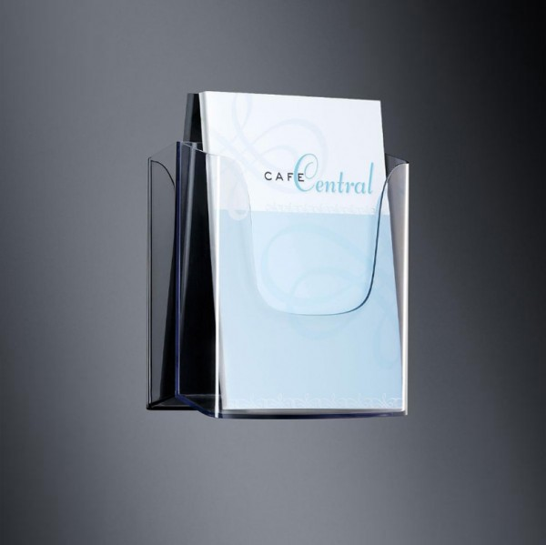 Sigel® Wand-Prospekthalter acrylic mit1Fach DINA4, LH115