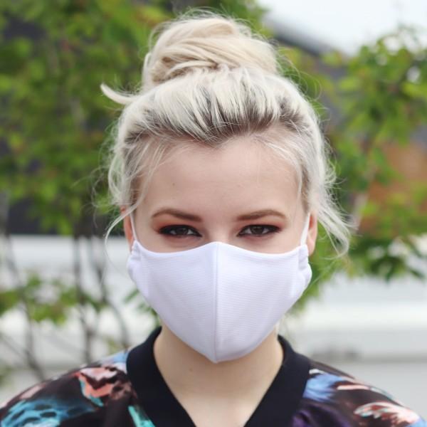 Mund-Nasen-Maske mit zertifiziertem SILVERPLUS® Material, weiß