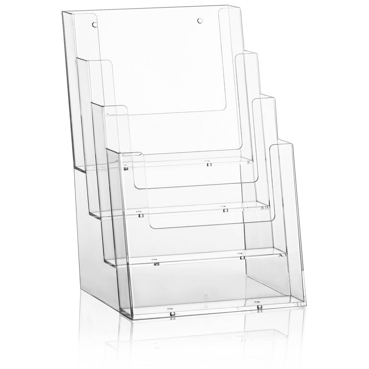 für DIN A4 Glasklarer Tisch Prospekthalter