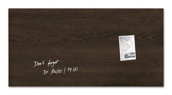 Sigel Glas-Magnetboard artverum Dark-Wood, 91 x 46 cm, GL259