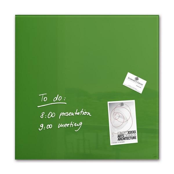 Sigel Glas-Magnetboard artverum grün, 48 x 48 cm, GL253