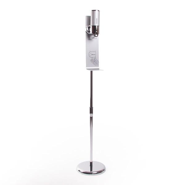 Desinfektionsständer »Chrome«, freistehend, höhenverstellbar mit manuellem Desinfektionsmittelspender