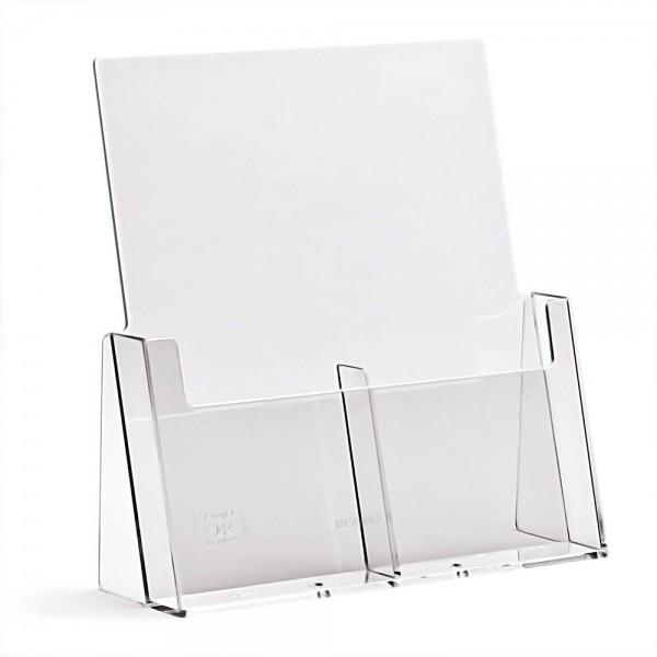 Taymar® Tisch-Prospekthalter 2xDIN lang nebeneinander, 2C112