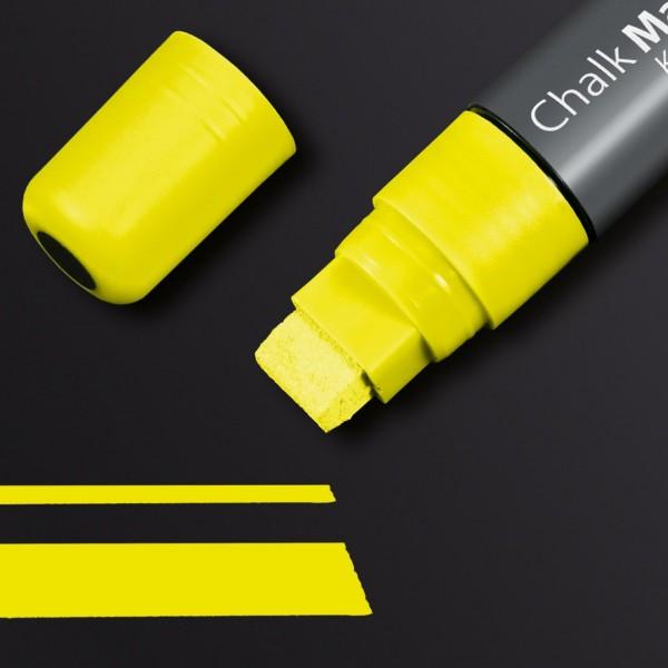Sigel Kreidemarker 150 Keilspitze 5-15 mm, gelb für Glas-Magnetboards, GL173