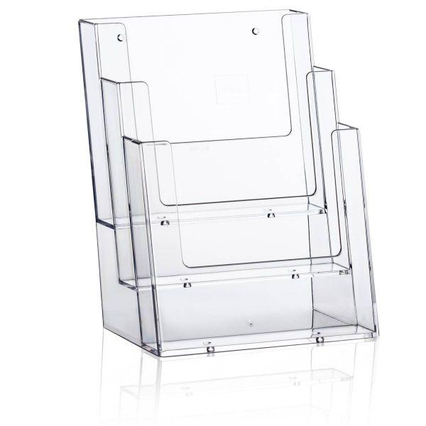 Taymar Tisch-Prospekthalter 3C160, 3 Fächer DIN A5