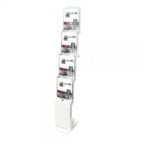 Faltbarer Prospektständer »realzip bianco 4« mit 4 Fächern DIN A4