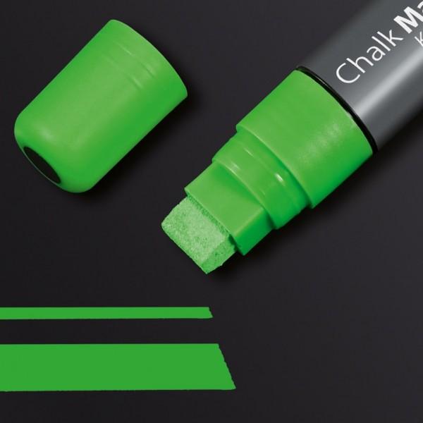 Sigel Kreidemarker 150 Keilspitze 5-15 mm, grün für Glas-Magnetboards, GL174