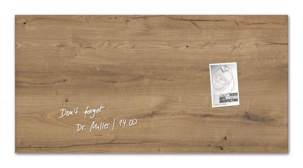 Sigel Glas-Magnetboard artverum Natural-Wood, 91 x 46 cm, GL258