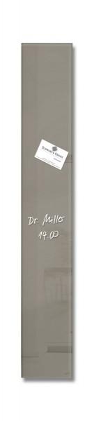 Sigel Glas-Magnetboard artverum taupe, 12 x 78 cm, GL108