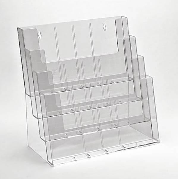 Taymar® Tisch-Prospekthalter 4xDIN A4 quer, 4C330
