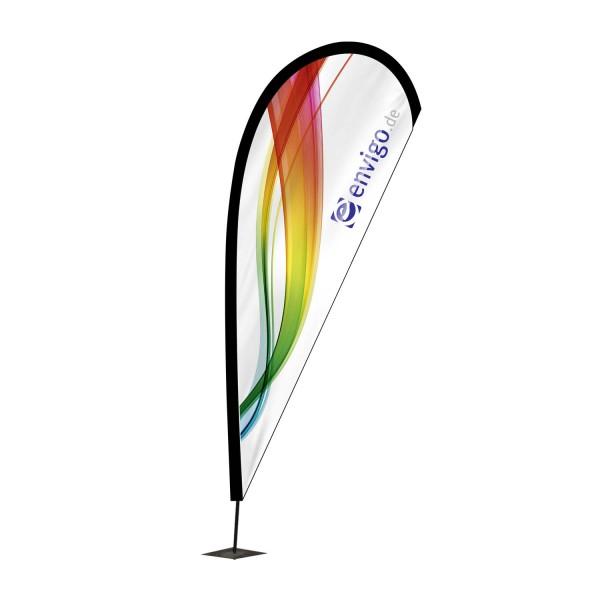 """Beachflag """"Drop"""", Größe L (110 x 350 cm) inkl. Carbonstange und Druck"""