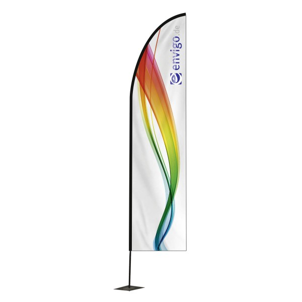 """Beachflag """"Blade"""", Größe L (80 x 400 cm) inkl. Carbonstange und Druck"""