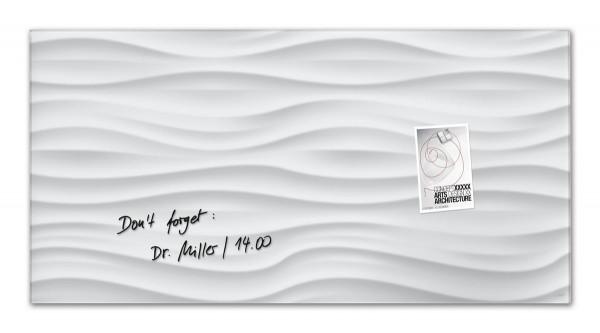 Sigel Glas-Magnetboard artverum White-Wave, 91 x 46 cm, GL260