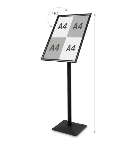 Infoständer »Menü Board Premium«, DIN A2 Querformat drehbar, Aluminium schwarz