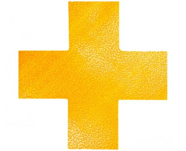 DURABLE Bodenmarkierung »Kreuz«, gelb