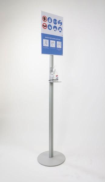 Infoständer »Soistes Fresh« DIN A4 mit integrierter Ablage für Desinfektionsspender