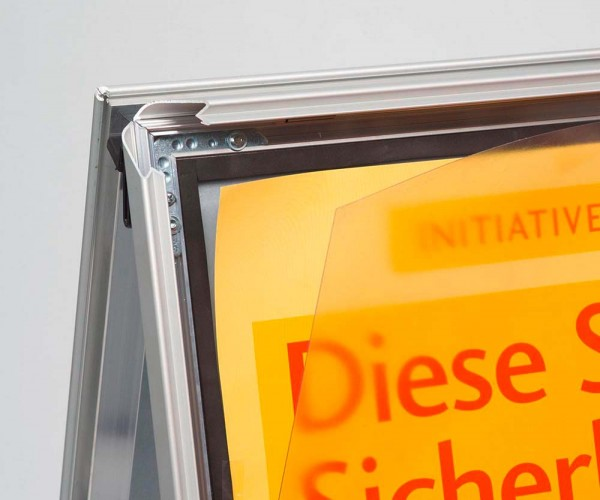 Transparente Kunststoff-Folientasche für wetterfeste Kundenstopper DIN A1